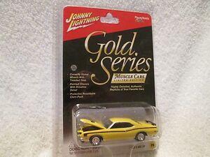 1971 Mercury Cyclone Aileron Johnny Lightning Doré Séries Muscle Auto 1/64 Jl