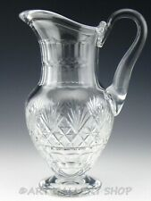 """St Louis France MASSENET CLEAR CUT CRYSTAL 10.5"""" FOOTED PITCHER"""