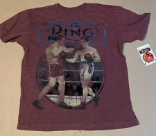The Ring Magazine Boxing T Shirt Retro Style Limited Faded Maroon Mens Large New