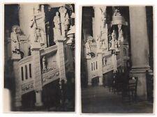 PHOTO ANCIENNE Vendée Saint Gilles La Croix de Vie Église Intérieur Vers 1930