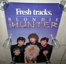 Blondie 1982 Usa Promo The Hunter Tour Poster Tracks Across America Ex+/N.Mint