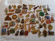 Job lot of 60 Musical instrument Music related metal lapel pins