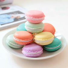Mini Charm Macaron Cake Shape Earrings Ring Necklace Jewelry Storage Display Box