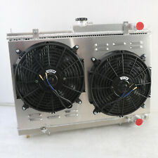 2Row Radiator+Fan For Nissan Skyline R33 GT-R GTS GTS-T R34 GTT RB25DET RB26DETT