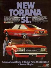 1978 UC HOLDEN TORANA SL HATCH A3 POSTER AD SALES BROCHURE ADVERTISEMENT ADVERT