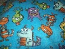 blue monsters baby toddler 36x30 fleece personalized Blanket great 4 car seat