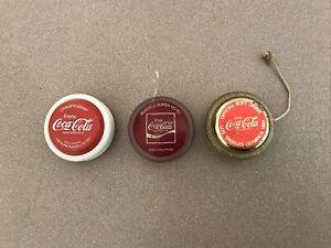 """Coca Cola YoYo Vintage """"Championship"""" / Los Angeles Olympic X 3"""