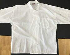 Chef Coat Jacket Men's Xxx (2Xl) Double Breasted Long Sleeve Pocket Pre-Owned