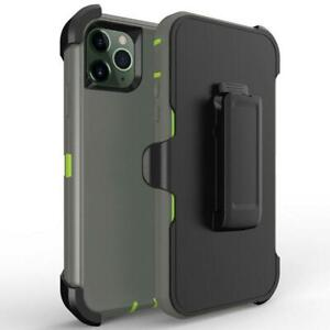 For iPhone 12 Mini 12 Pro Max Shockproof Case with Belt Clip Heavy Duty Holster