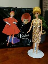 Vintage Miss Barbie Doll with Sleepy Eyes, Bendable Knees, Wigs; Outfit and Case