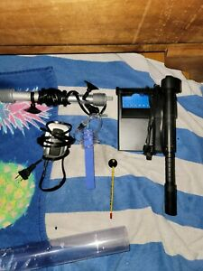 Fish Tank w/ Chemicals, filtration, water changer and more