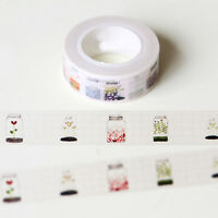 BIN Design DIY Paper Sticky Adhesive Sticker Decorative Washi Tape 1.5cm*10m