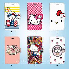 Hello Kitty Flip Wallet Cover Sony Xperia Z2 Z3 Z5 LG G5 084
