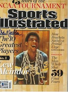 KAREEM ABDUL-JABBAR Signed SPORTS ILLUSTRATED w/ Beckett COA (NO Label)