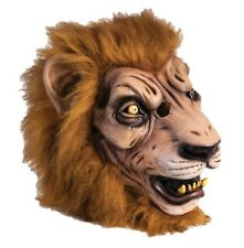 Golden Fun Fur Lion Mask Adult Latex Costume Accessory Unisex One Size Snarling