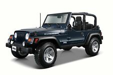 JEEP WRANGLER RUBICON CONVERTIBLE BLUE 1/27 SCALE DIECAST CAR BY MAISTO 31245BU