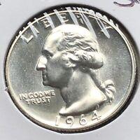 USA 1964 Washington Quarter Proof PP Sehr Selten Polierte Platte Silber