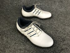 Adidas Womens Sz 7 White W/Blue Golf Shoes Evg791003 In Excellent Condition