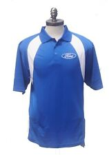 FORD DRY WICKING REEBOK POLO ROYAL AND WHITE EMBROIDERED AND ONLY SOLD BY US.