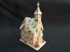 ROYAL ALBERT BONE CHINA OLD COUNTRY ROSES CHURCH CANDLE LAMP Lot 40
