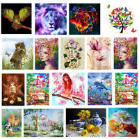 5D DIY Diamond Painting Animal Flower Embroidery Cross Stitch Kit Home Decor Art