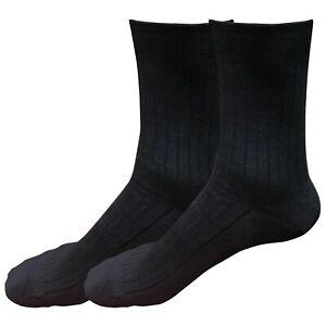 2 pairs 98% Cotton Mens Comfortable Casual Crew Dress Socks Mid Calf Size 9-11