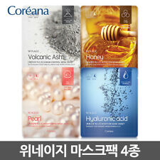 Coreana Win Age Moisture Nutrition Sebum control Mask Sheet 4pcs Korea Cosmetic