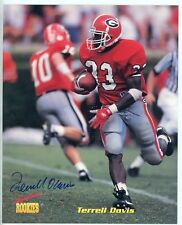 "1995 Signature Rookies Terrell Davis Auto Rookie Card 8x10"" size Denver UGA"