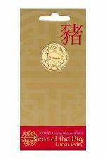 "2007""Lunar Year of ""The PIG"" Australia $1 Dollar UNC Coin on Card"