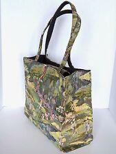 MARLO SPORT Tote Women's Golf Course Green Tapestry Carpet Shoulder Bag Shopper