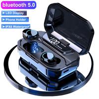 TWS Mini Bluetooth 5.0 Headset LED Wireless Earphones In-Ear Earbuds Headphones