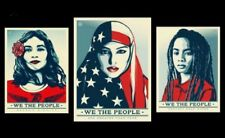 """We The People"" Shepard Fairey Set, 24""x36"" Open Edition, Not Banksy, DFace"