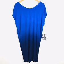Young Fabulous & Broke Dress Women's Size Medium Blue Ombre Dolman Sleeve NEW