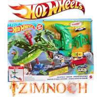 Hot Wheels Air Attack Dragon Play Set City Robo Beast SEE VIDEO !!! toy kids New