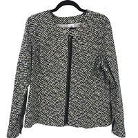 Cabi  Womens Black Full Zip Cotton Jacket Size L Large