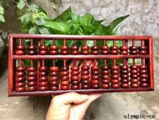 Indian red sandalwood handmade handicraft abacus counting frame statue
