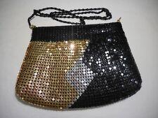 Black Gold Silver Mesh Handbag Evening Purse Shoulder or Crossbody Bag
