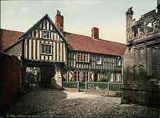 Worcester. Evesham. Abbot Reginald's Gateway and Old Vicarage. PZ vintage photoc