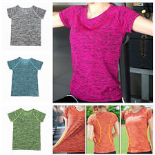 Quick Dry Womens Short Sleeve Fitness Gym Running Yoga T-Shirt Active Sport Top