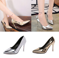 Women Ladies Stiletto High Heels Shoes Pointed-toe Wedding Party Pumps Shoe Size