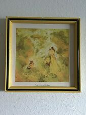 Vintage Home Interiors Picture By M. Storm Happy Hours Mother Baby Girl Yellow