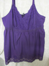 Pretty Purple TOP Sz 26 Broderie Anglaise Poly/Cotton