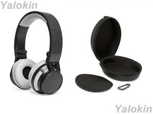 Collapsible Design Wireless Headphones with Leather Carrying Travel Case (REVL)