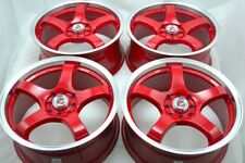 17 red Wheels Rims Elantra Lancer Mirage Spectra Sonata Tiburon TL 4x100 4x114.3