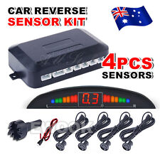 OZ LED Reverse Backup Radar Display 4 Parking Car Parking Sensor System Kit