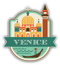 "Venice City Italy Travel Emblem Car Bumper Sticker Decal 5"" x 5"""