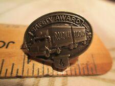 Vtg Roadway 4 Year Trucking Safety Award Driving Pinback nr