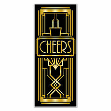 Art Deco GREAT GATSBY 20'S CHEERS DOOR COVER Party Decoration PHOTO PROP Booth