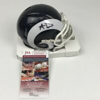 Autographed/Signed AARON DONALD Los Angeles Rams Mini Football Helmet JSA COA