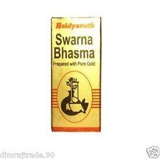 SWARNA BHASMA PREPARED WITH PURE GOLD 1 GM by Baidyanath Free shipping 100% pure